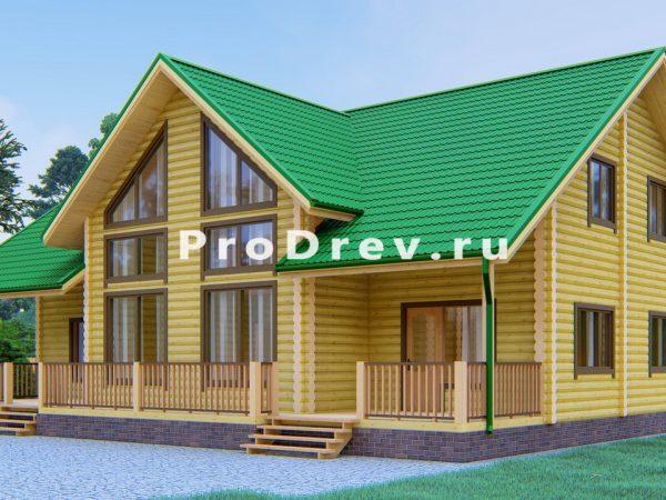 Дом из бревна 10х15 (ОЦБ-34)