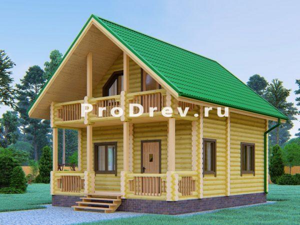 Дом из бревна 6х7 (ОЦБ-36)