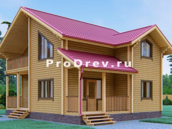 Дом из клееного бруса 8х9 (КБ-3)