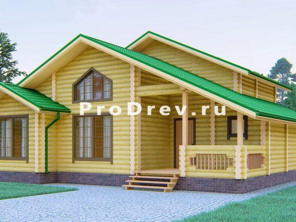 Дом из бревна 11х11 (ОЦБ-41)