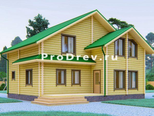 Дом из бревна 9х10 (ОЦБ-42)