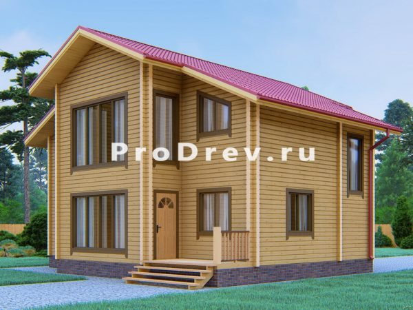Дом из клееного бруса 10х11 (КБ-43)