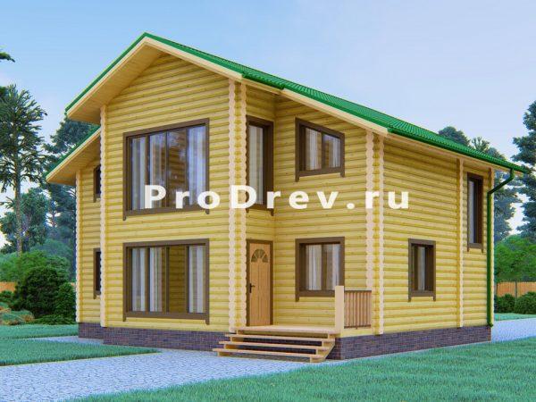 Дом из бревна 10х11 (ОЦБ-43)