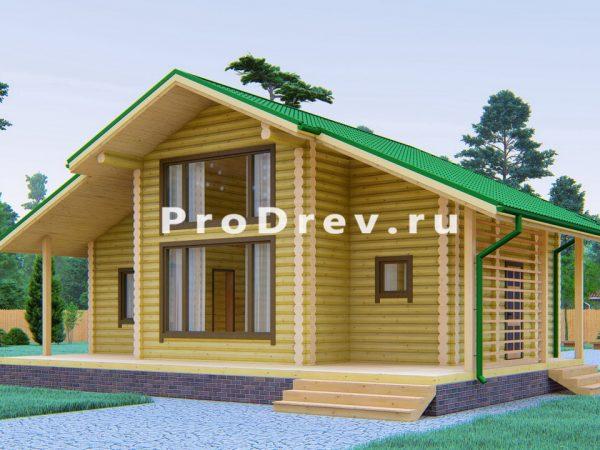 Дом из бревна 10х11 (ОЦБ-44)