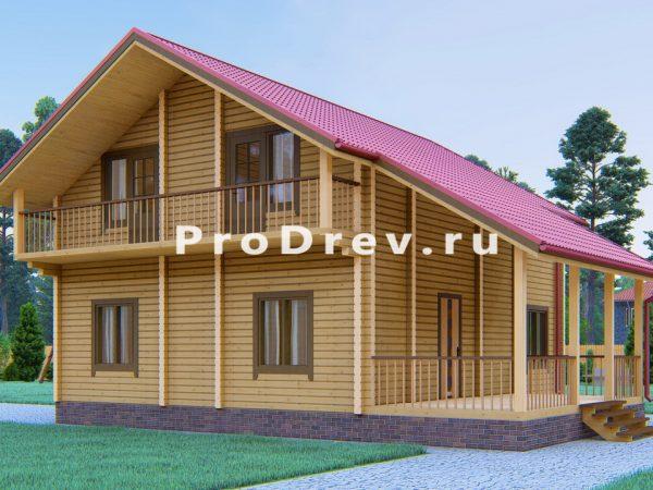 Дом из клееного бруса 9х12 (КБ-46)