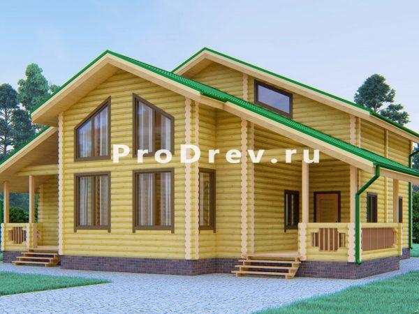 Дом из бревна 13х14 (ОЦБ-47)