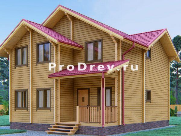 Дом из клееного бруса 9х9 (КБ-4)