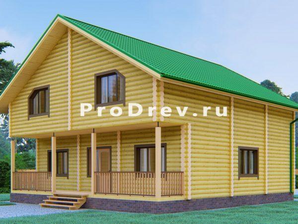 Дом из бревна 10х12 (ОЦБ-5)