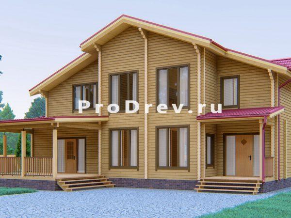 Дом из клееного бруса 15х18 (КБ-7)