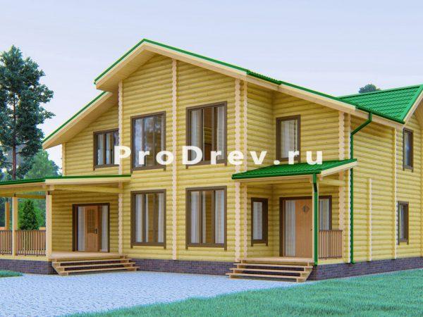 Дом из бревна 15х18 (ОЦБ-7)