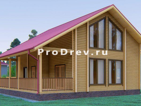 Дом из клееного бруса 8х9 (КБ-8)