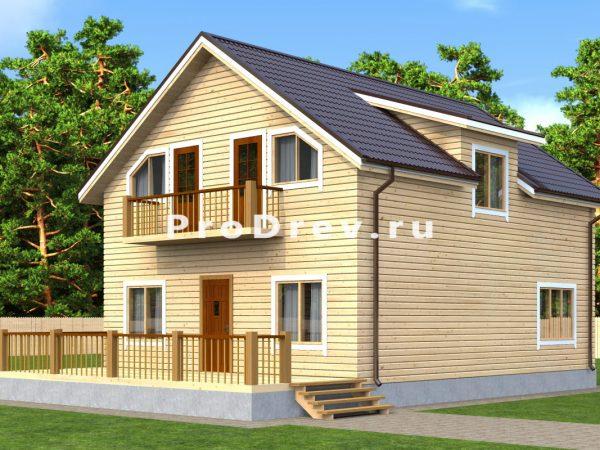Дом из бруса 8х10 (ДБ-142)